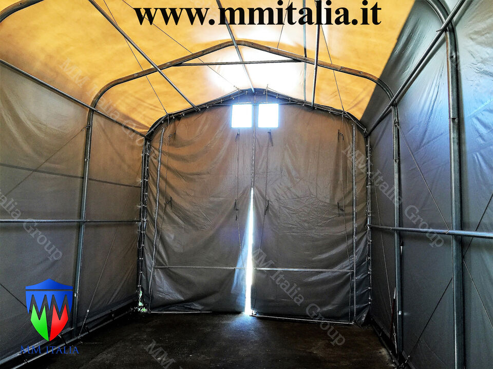 Tunnel Tendone Rimessaggio Camper 4 x 8 x 3,35 mt. Prof. 3