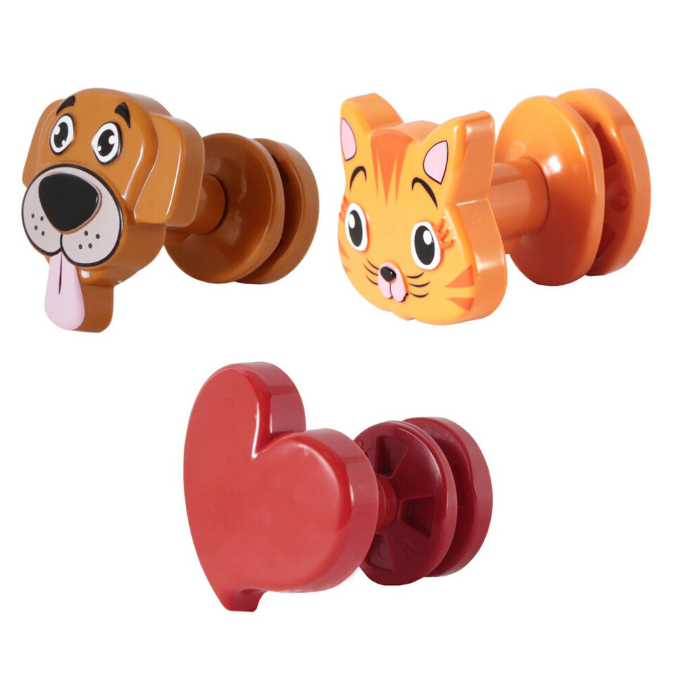 Pika shop 3 pz appendino per termoarredo modello fantasy doggy kitty l