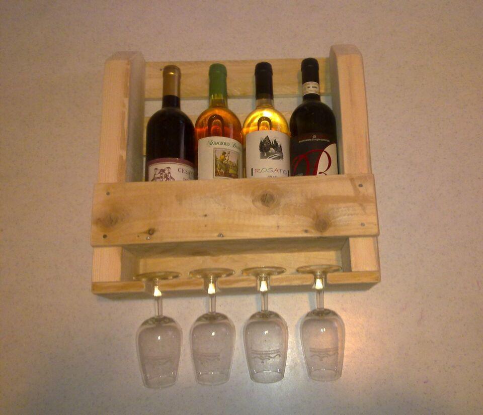 Porta bottiglie legno fatto a mano con pallet 4