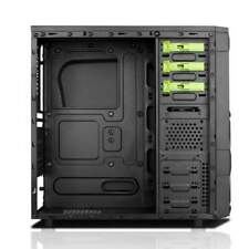 Case Ninja - Gaming Middle Tower, Usb3, 12cm Green Fan, Odd/hdd Kit, T