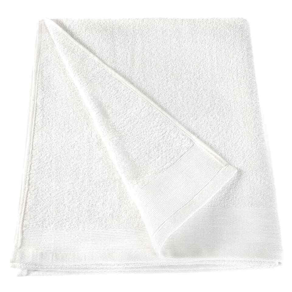 Asciugamani da Bagno 10 pz Cotone 350 gsm 100x150 cm Bianchi 3