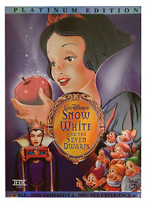 Snow White and the Seven Dwarfs DVD 2-Disc Set New w/ Slipcover Free Shipping