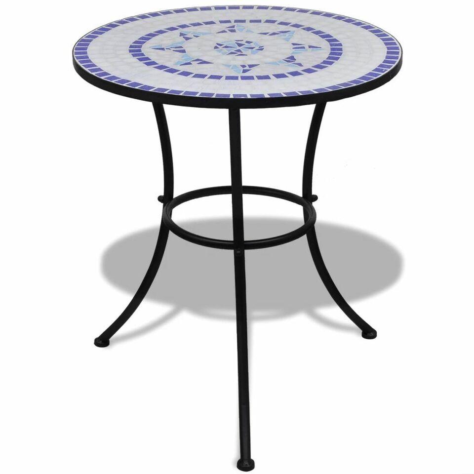 Set da Bistrot 3 pz in Piastrelle di Ceramica Blu e Bianco 2