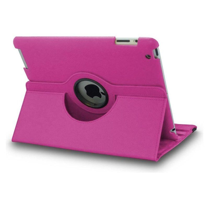 Hot Pink 360 Swivel Leather Case Cover
