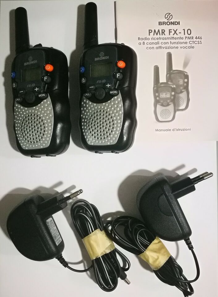 2 walkie Talkie complete BRONDI radio tramittenti