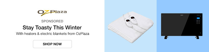 With heaters & electric blankets from OzPlaza