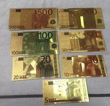 Banconote EURO riproduzione placcata oro 24K