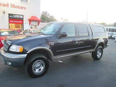 2001 Ford F150 XLT Crew Cab 4x4 Nice Looking Truck Well Maintained Warranty