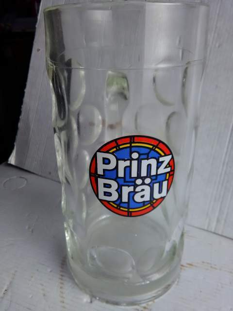 4 boccali in vetro della birra pubblicitari anni 60 e 70 7