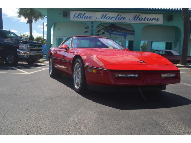 Red 1990 Corvette ZR1