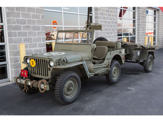1946 willys cj2 jeep military replica with trailer tons of accessories used willys for sale. Black Bedroom Furniture Sets. Home Design Ideas
