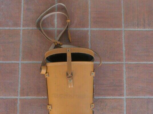 French army - bino leather case w/ straps