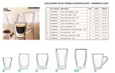 Set 6 Tazza Caffe' Vetro Per Caffetteria Bar Pizzeria Cl 6.5