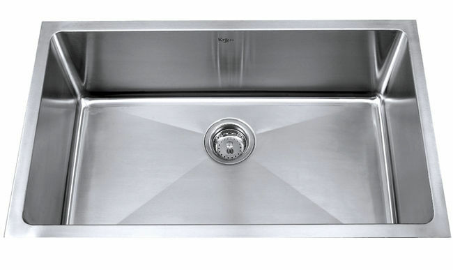 This Is A 30 Inch Single Bowl Sink From Kraus And Is A Popular Option For  Someone Remodeling His Or Her Kitchen. The Sink Is Made Of High Quality  Stainless ...