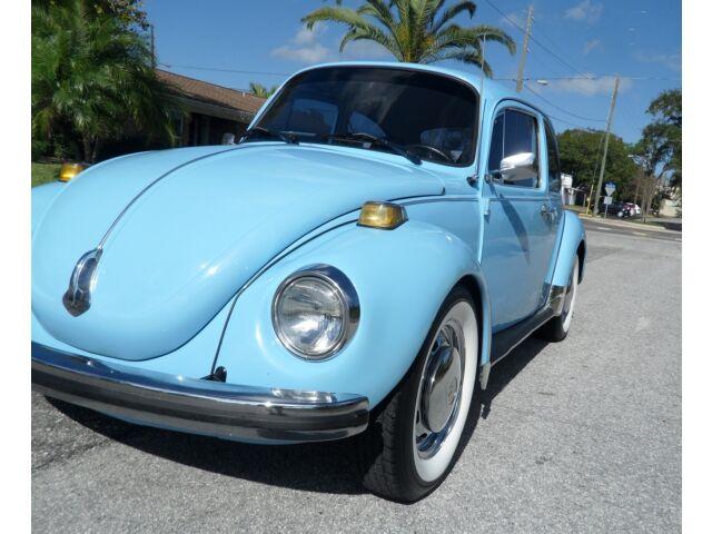 VW Super Beetle 1600cc Engine 4 Speed Chrome Wheels White Wall Tires
