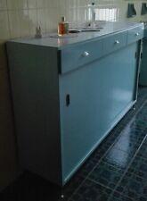 Mobile bagno anni 50 in legno laccato azzurro