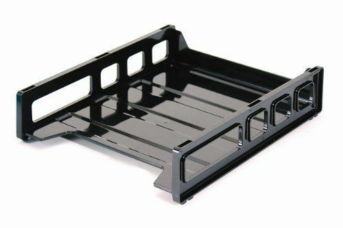 Officemate Provides A Customizable Option Suitable For Any Home Or Office.  This Simple Black Letter Tray Is Stackable With Other Officemate Trays, ...