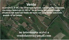 Disponibile in provincia di (RC) 3ha di terreno agricolo