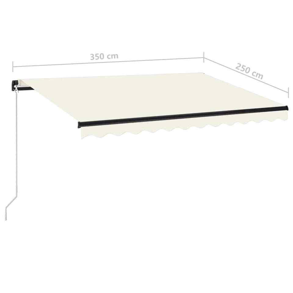 Tenda da Sole Retrattile Manuale con LED 350x250 cm Crema 7