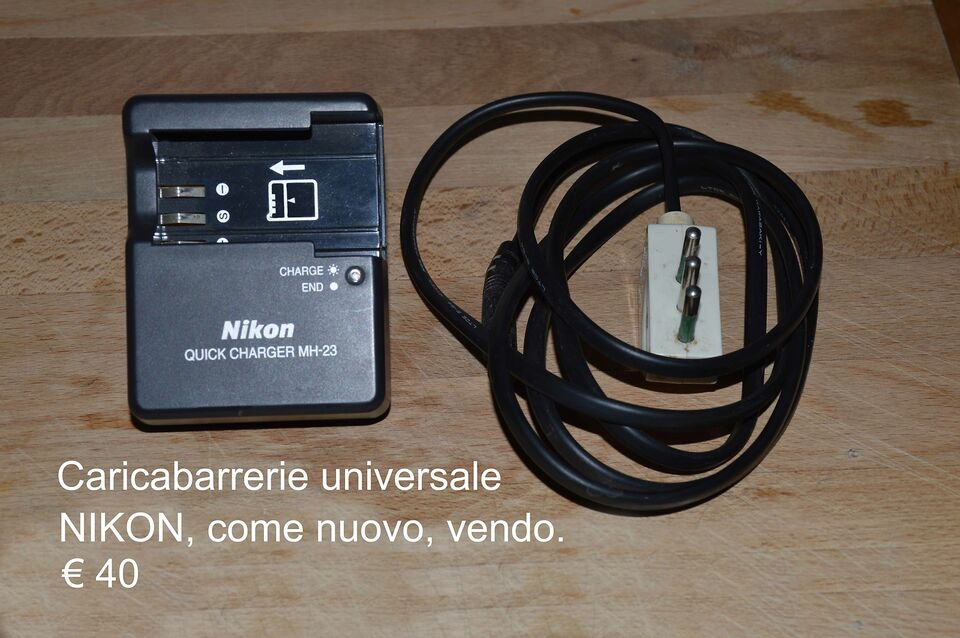 Caricabatterie QUICK CHARGER MH-23 NIKON