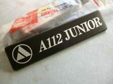 Autobianchi 112 junior - Badge posteriore sped compresa