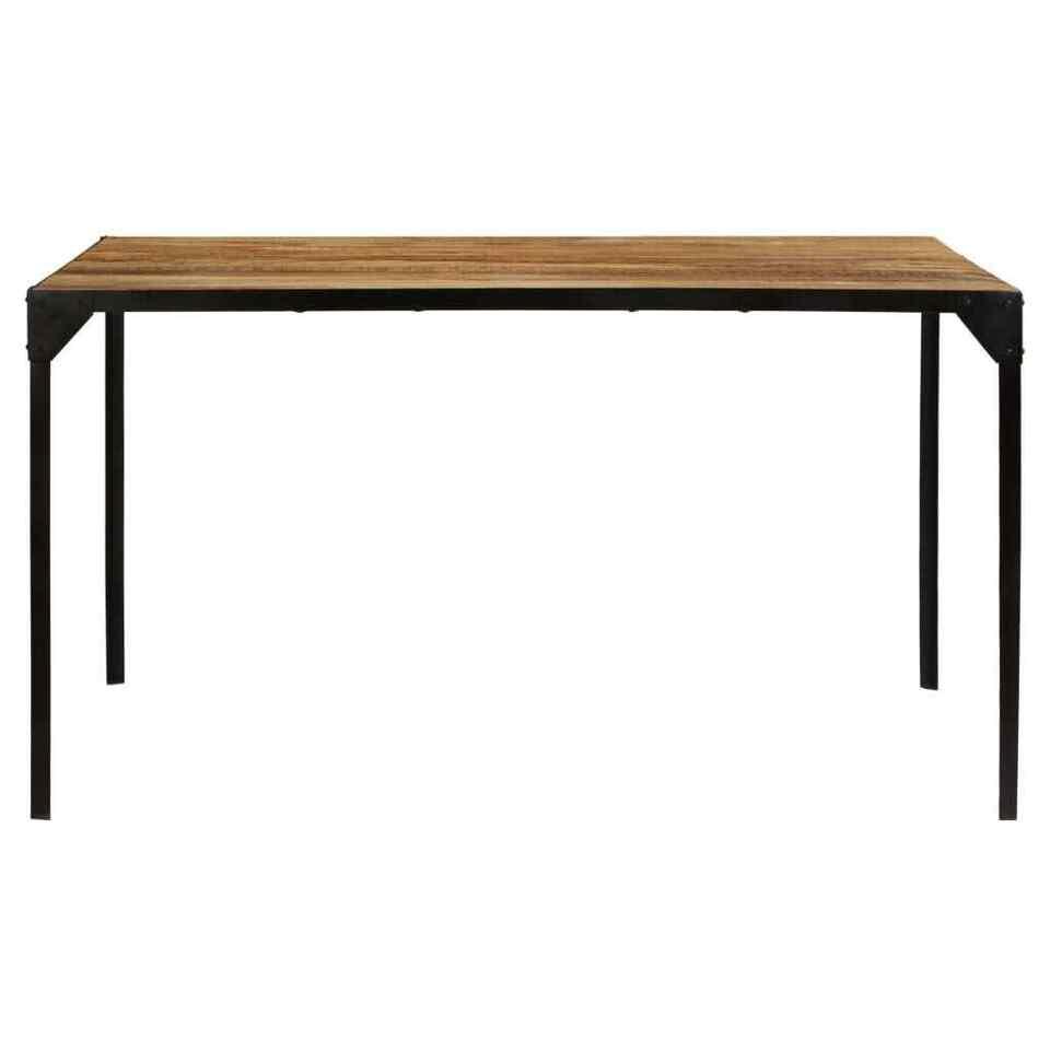 Tavolo da Pranzo 140x140x76 cm in Legno Massello di Mango 5