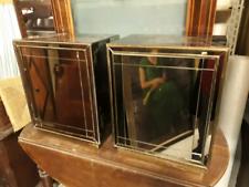 643 - coppia comodini vintage - cubi con specchi
