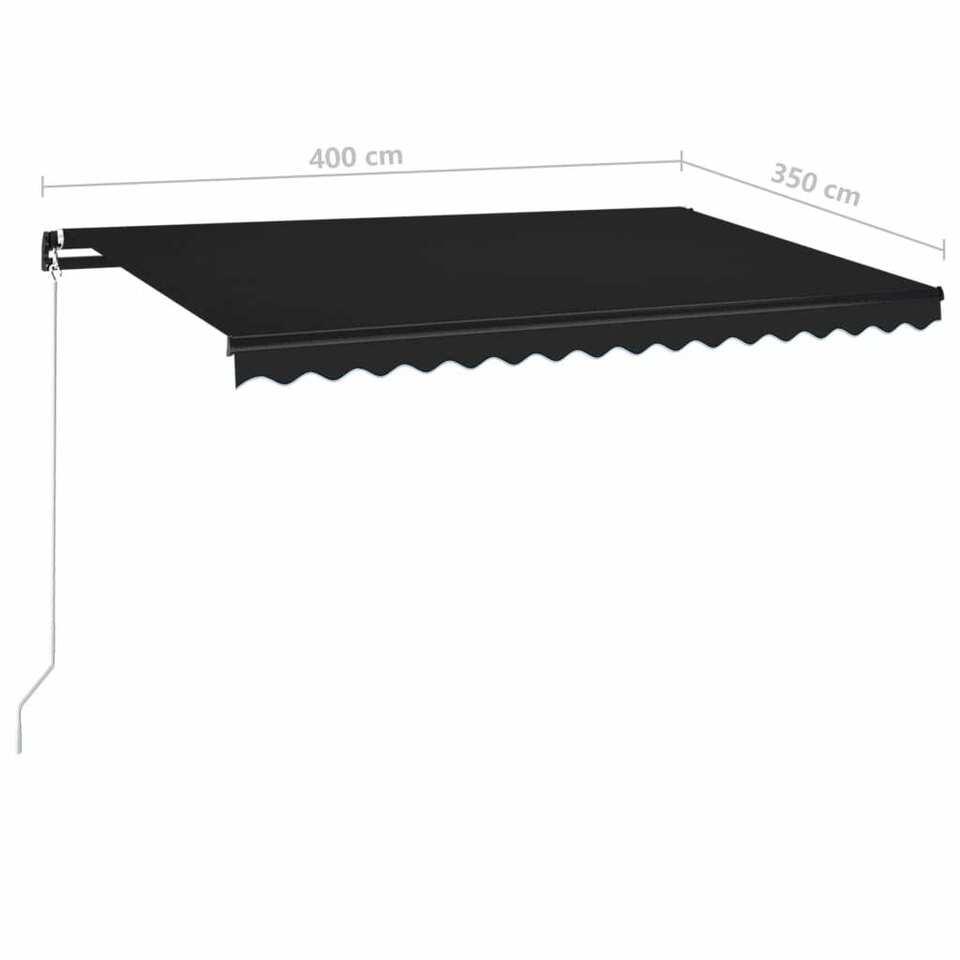 Tenda da Sole Retrattile Manuale 400x350 cm Antracite 7