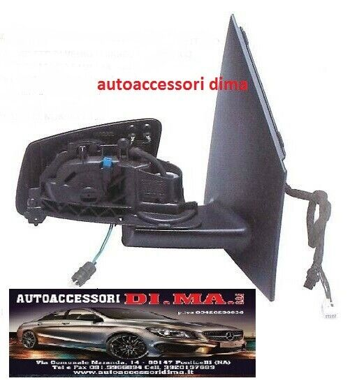 SPECCHIO ELETTRICO TERMICO DX SENZA CALOTTA MERCEDES CLASSE E W211 DAL 2002