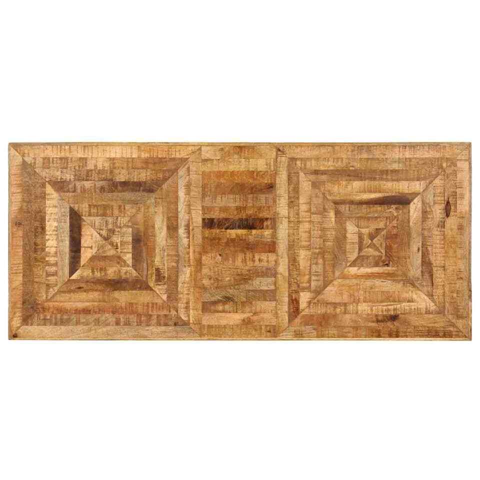 Scrittoio in Legno Massello di Mango 118x50x75 cm 5