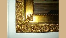 Cornice a foglia oro con frutta stampa depoca