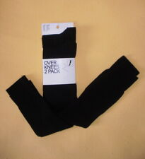 Calze lunghe over-knees, cotone, nere. 2 PAIA, marca H&M - NUOVE