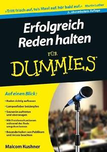 Erfolgreich Reden halten für Dummies - ungelesen