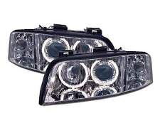 Coppia di fari ANGEL EYES audi a6 01-04 cromati