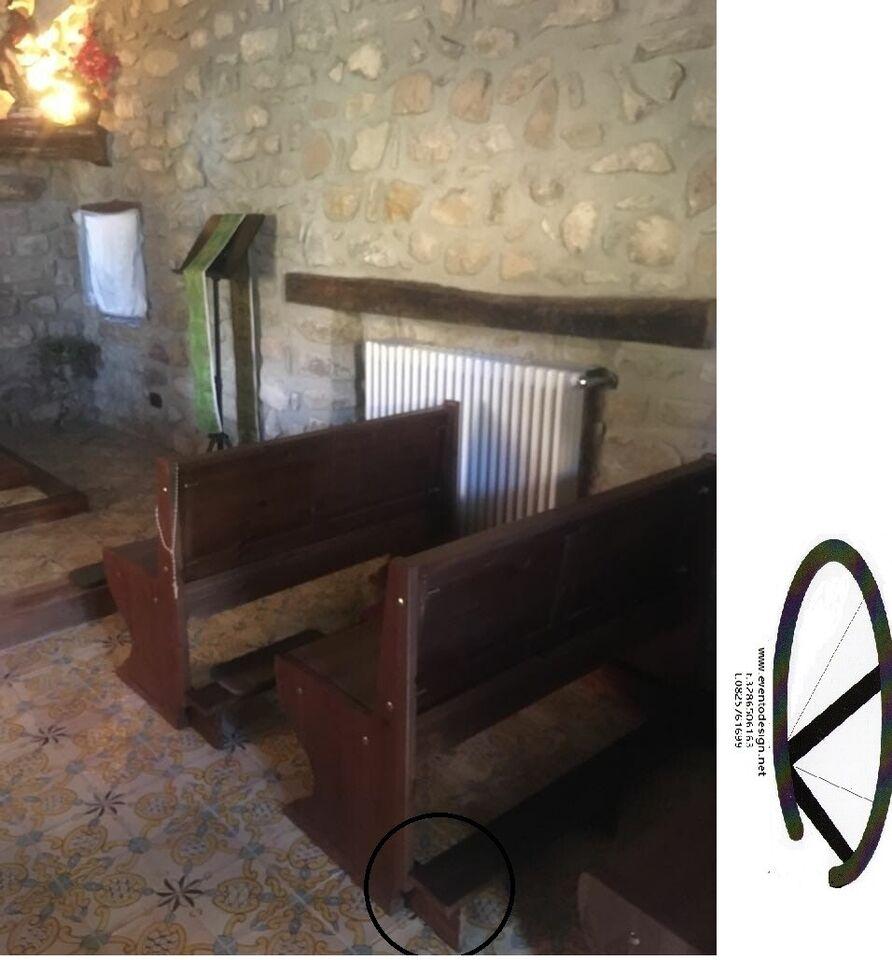 Panca con inginocchiatoio e senza per chiesa privata 4