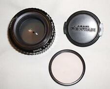 Obiettivo Pentax-A smc 1:1.4 50mm. Raro.