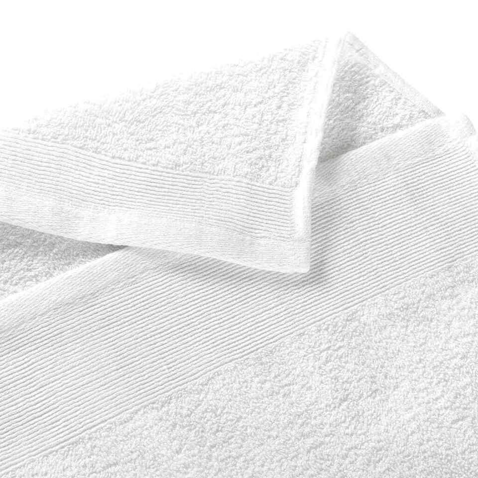 Asciugamani da Bagno 10 pz Cotone 350 gsm 100x150 cm Bianchi 4