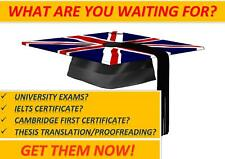 English (also ONLINE) for university, IELTS & FCE tests