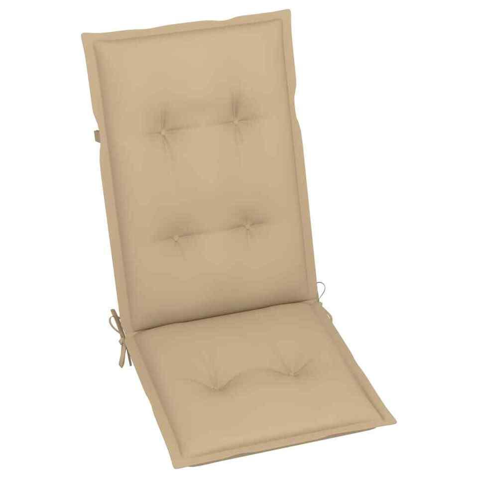 Cuscini per Sedie da Giardino 6 pz Beige 120x50x7 cm 4