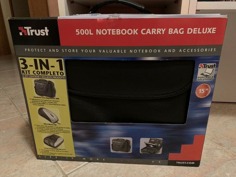 Trust 500L Notebook Carry Bag Deluxe 3 in 1