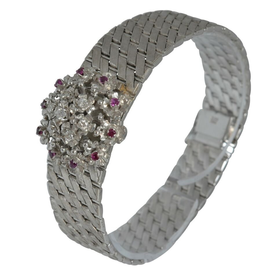 SARCAR GENEVE Lady watch gold rubies and diamond's Full Set 4
