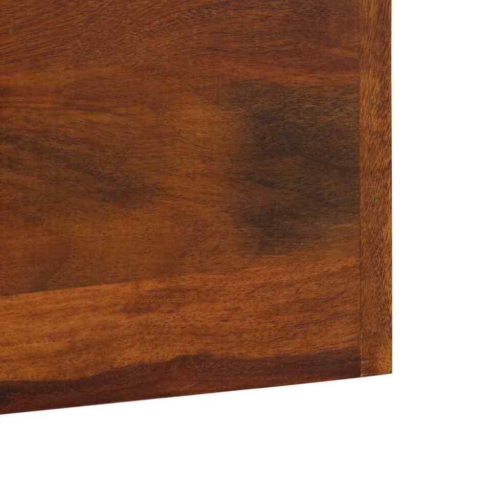 Appendiabiti in Legno Massello di Sheesham 118x40 cm 4