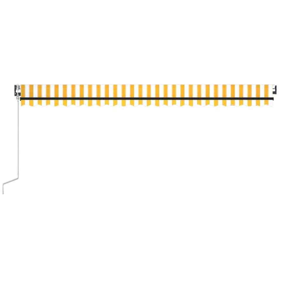 Tenda Automatica Sensore Vento e LED 500x300 cm Gialla Bianca 4