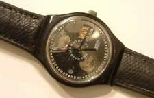 Orologio automatico vintage swatch black motion