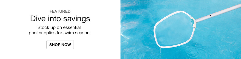 Save on essential pool supplies