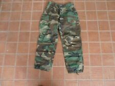 Us army bdu - hot weather woodland camouflage pant small reg.