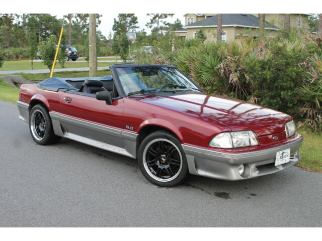 93 gt convertible 5 0 v8 pony fox manual 5 spd quick fast no mods lx 93 92 90 used ford. Black Bedroom Furniture Sets. Home Design Ideas