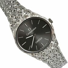 OMEGA Constellation Lady jewel watch gray dial white gold 1970