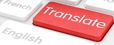 Traduttore - interprete - redattore (EN-FR-IT)