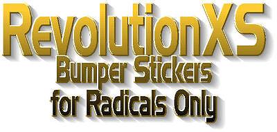 RevolutionXS Bumper Stickers